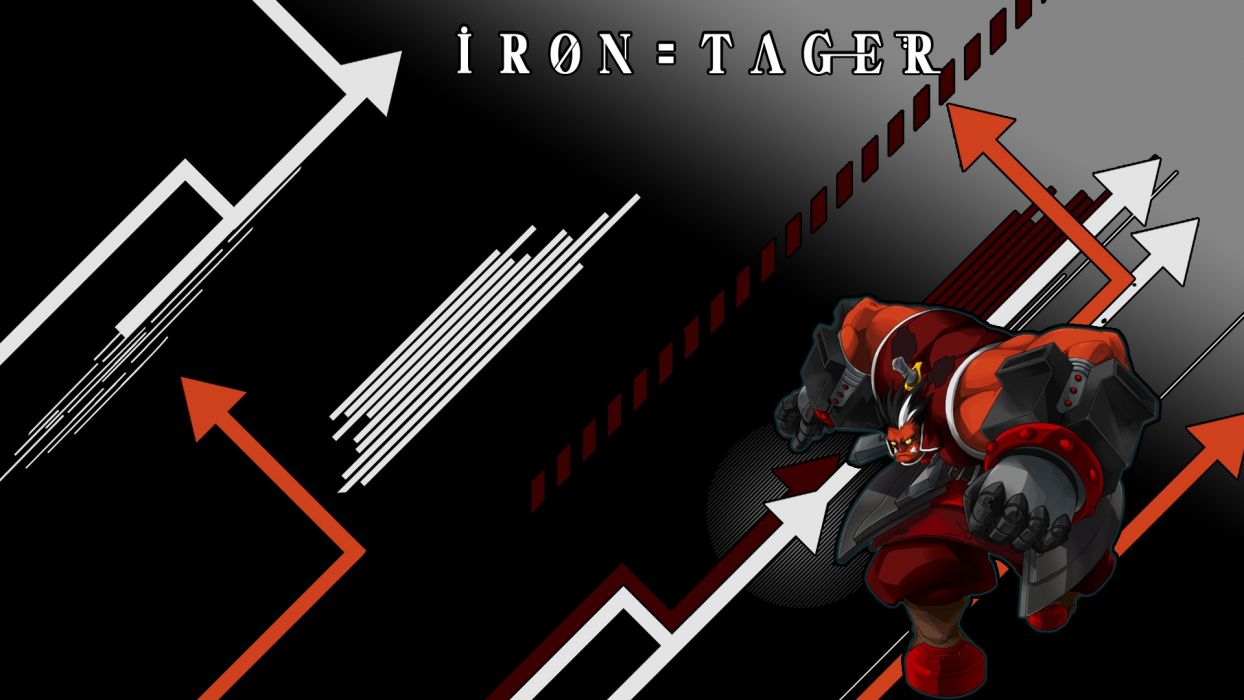 video games Blazblue anime iron tager wallpaper