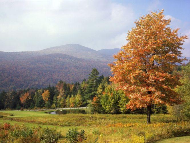 autumn vermont Mount wallpaper