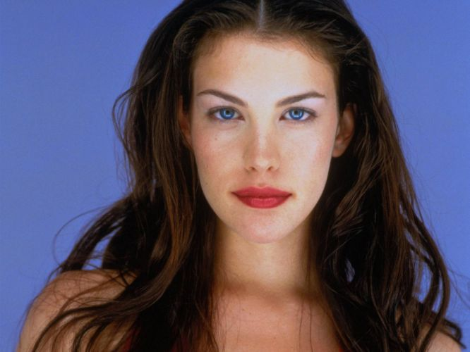 brunettes women blue eyes actress models Liv Tyler wallpaper