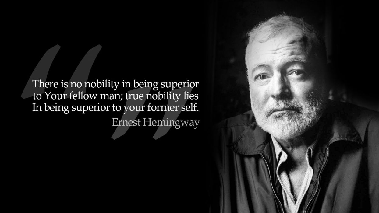 black and white quotes grayscale monochrome Ernest Hemingway wallpaper