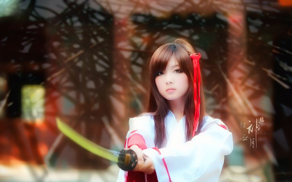 cosplay Asians swords wallpaper