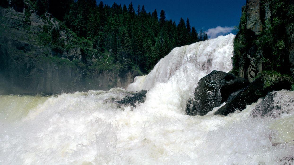 falls Idaho forks waterfalls wallpaper