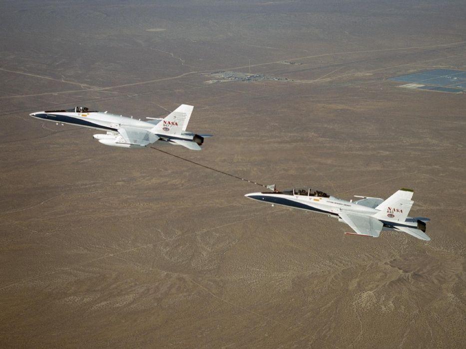aircraft NASA aerial refueling wallpaper