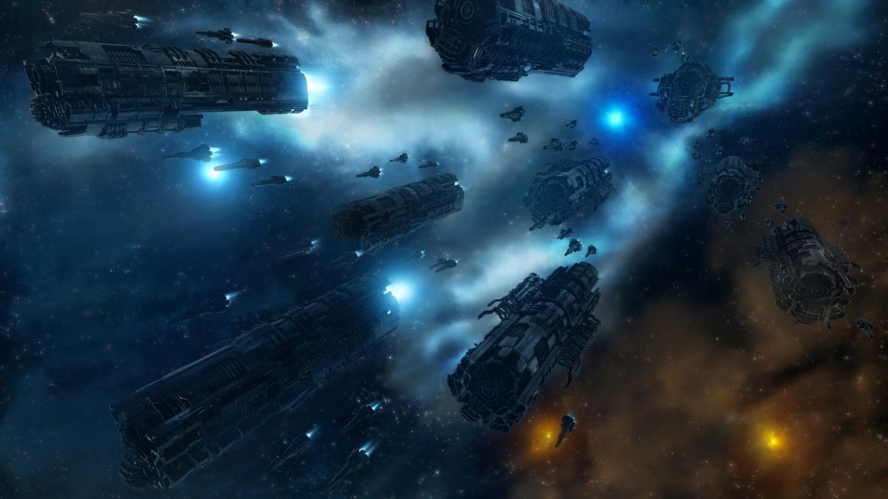 outer space science fiction wallpaper