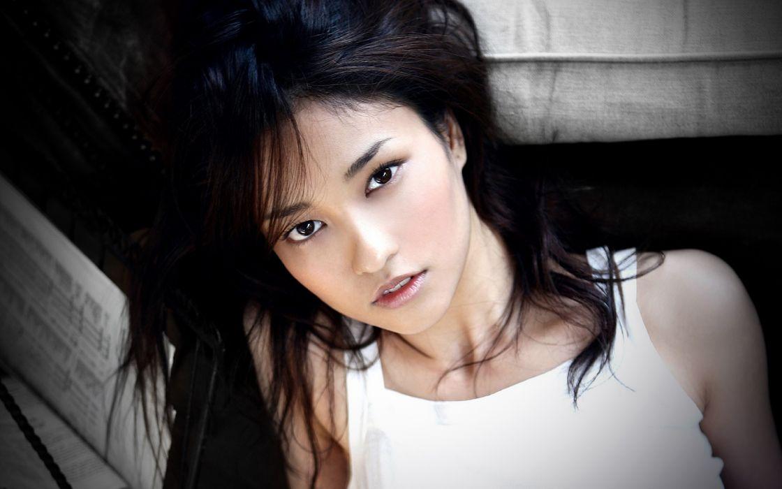 brunettes women Asians faces Meisa Kuroki wallpaper