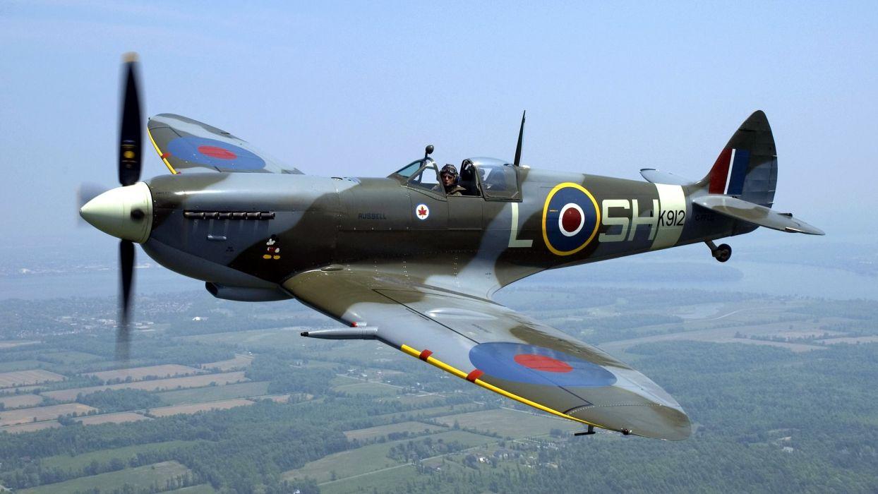 airplanes Warbird Supermarine Spitfire Spitfire wallpaper