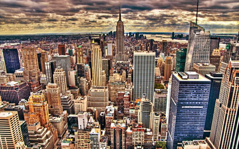 cityscapes New York City Empire State Building city skyline wallpaper