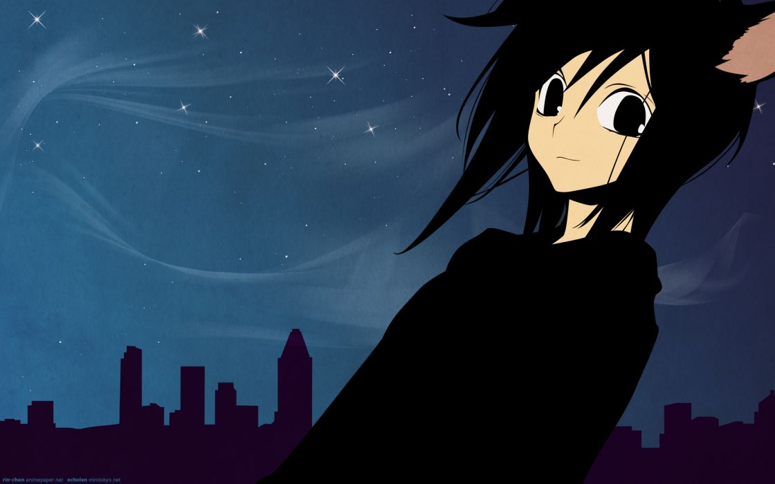 brunettes cityscapes architecture buildings nekomimi Loveless cat ears anime Ritsuka Aoyagi wallpaper