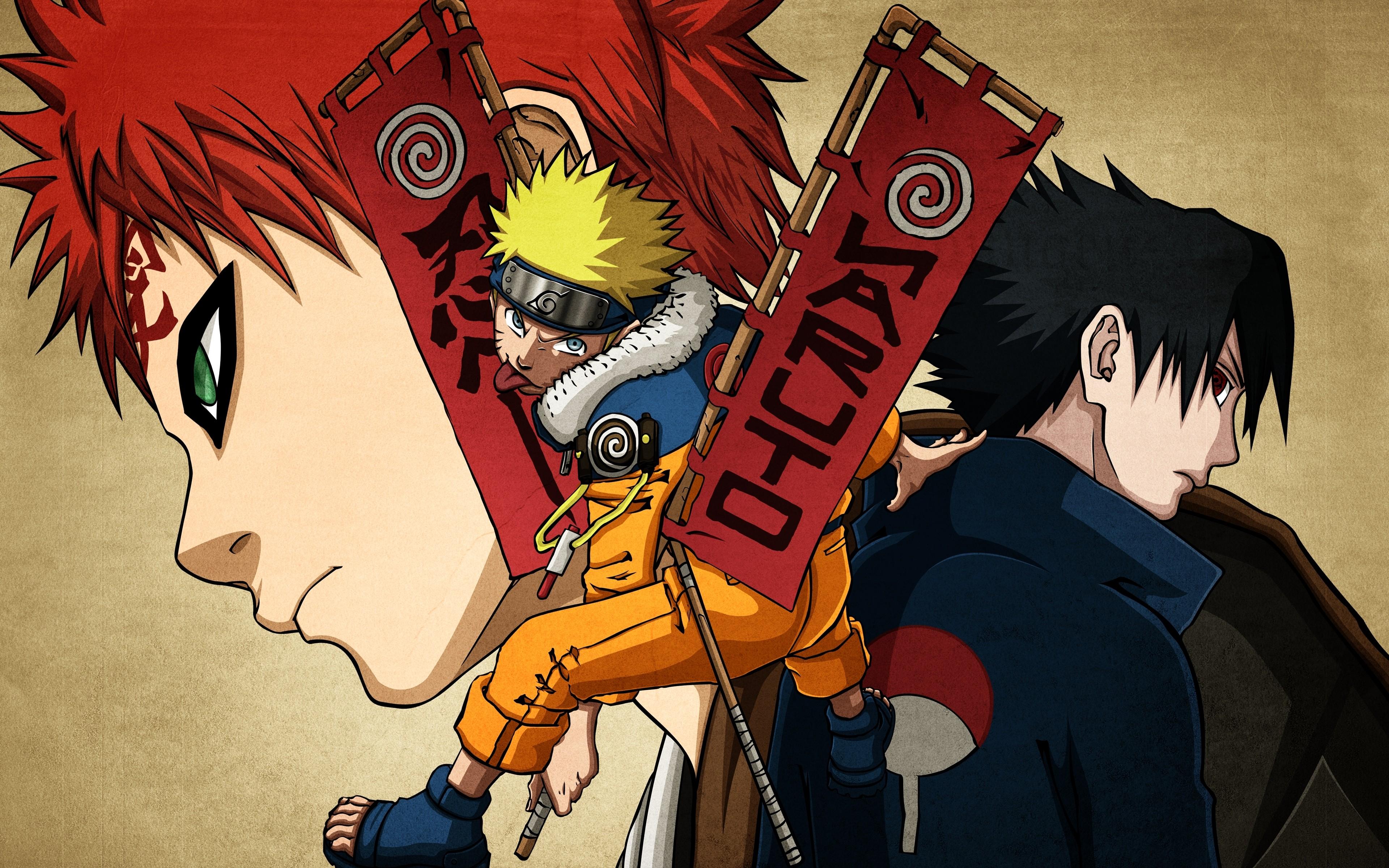 Uchiha Sasuke Naruto: Shippuden anime boys Gaara Uzumaki ...