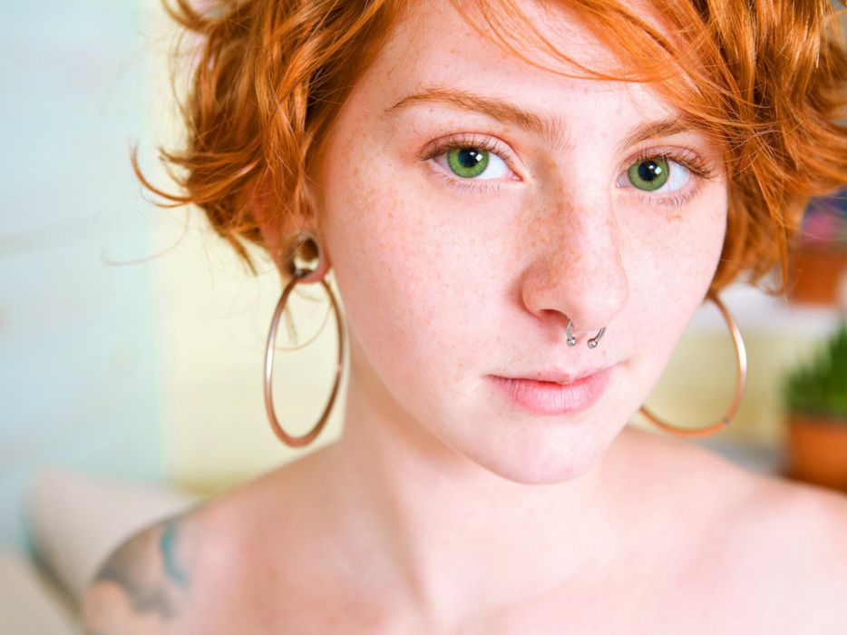 women redheads freckles faces wallpaper