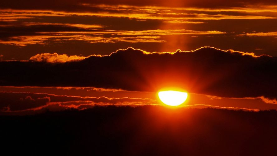 sunset clouds nature Sun skyscapes evening afternoon wallpaper
