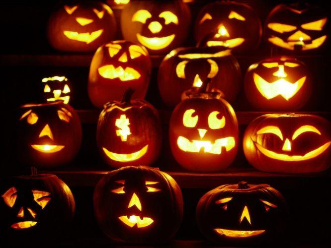 Halloween pumpkins wallpaper