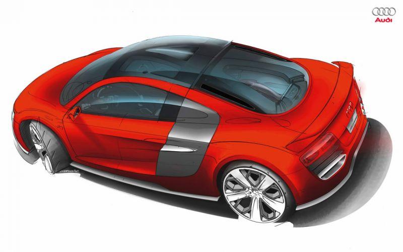 cars Audi concept art Audi R8 TDI Le Mans wallpaper