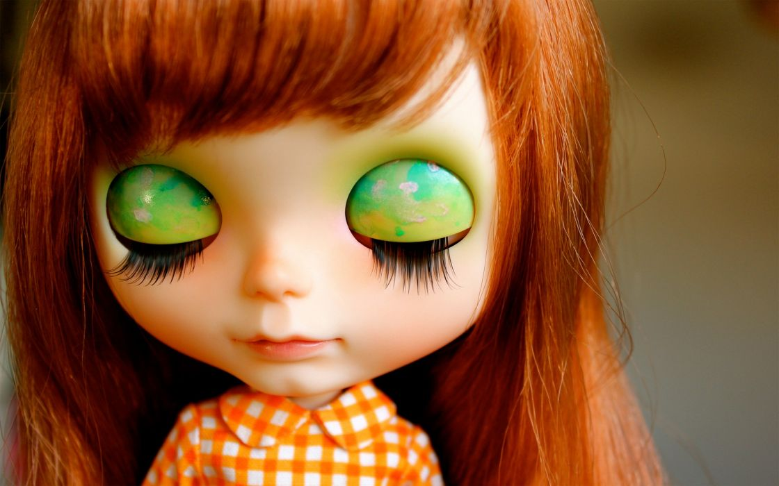 close-up redheads dolls toys wallpaper