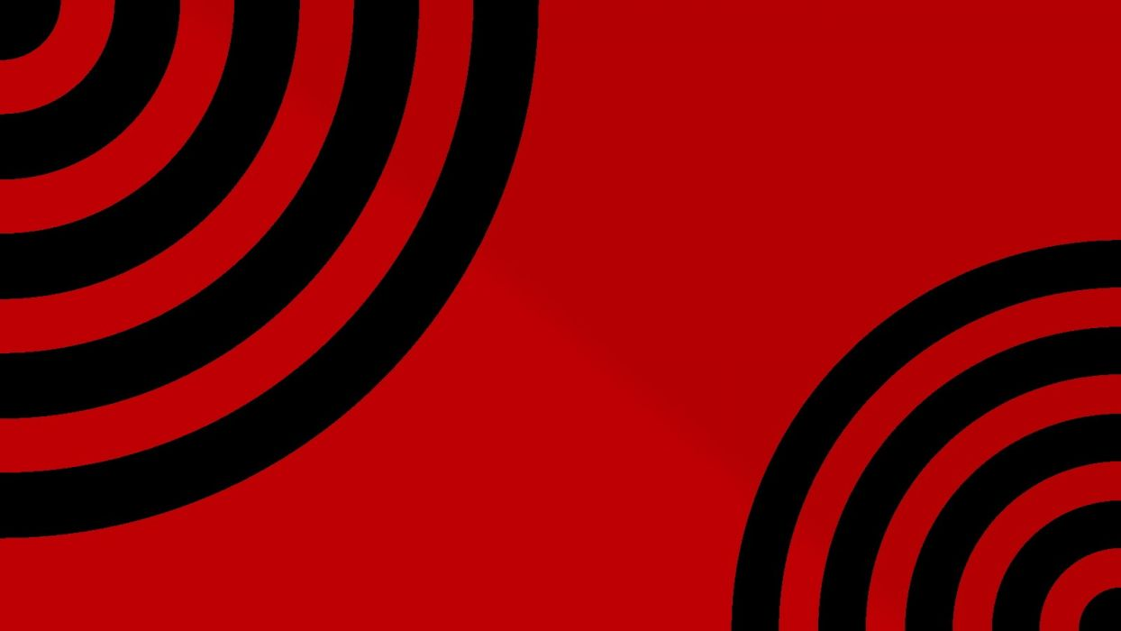 black red waves circles psychedelic simple background red background wallpaper