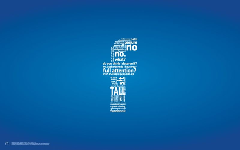 minimalistic Facebook text typography wallpaper