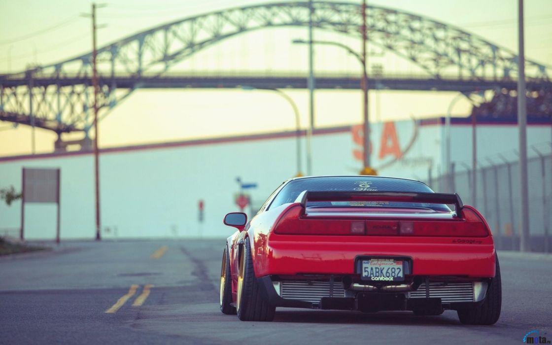 cars bridges Acura NSX wallpaper