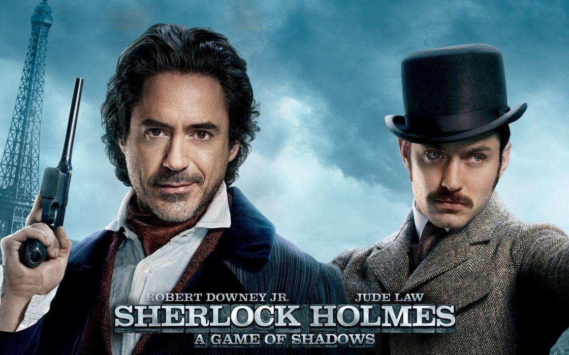 movies Robert Downey Jr Sherlock Holmes Jude Law Doctor Watson Sherlock Holmes - A Game of Shadows wallpaper