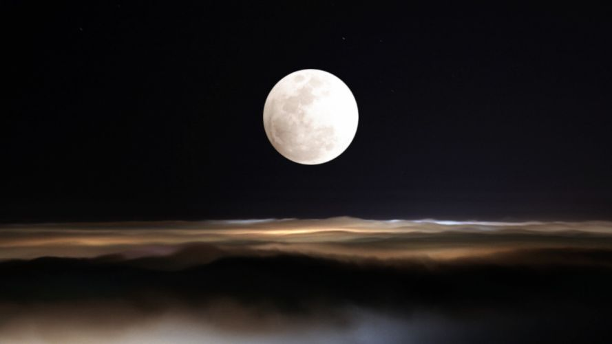 clouds nature night Moon skyscapes night sky wallpaper