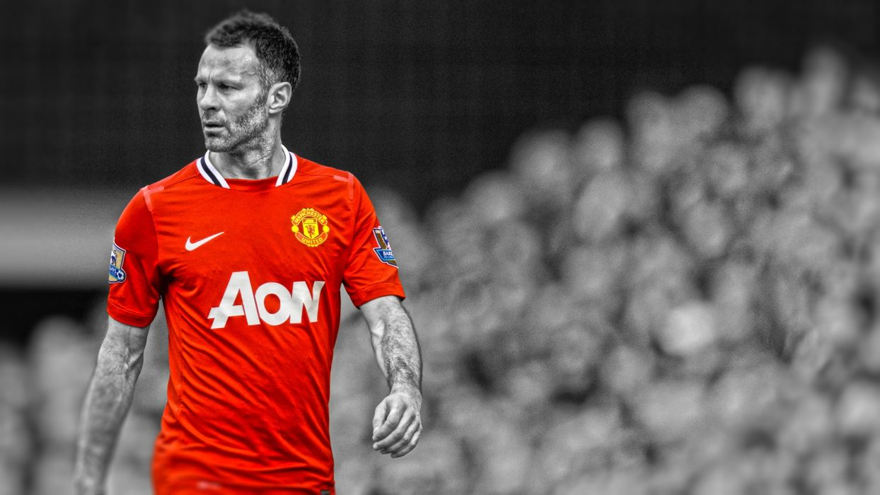 soccer HDR photography Manchester United FC Ryan Giggs premier league cutout wallpaper