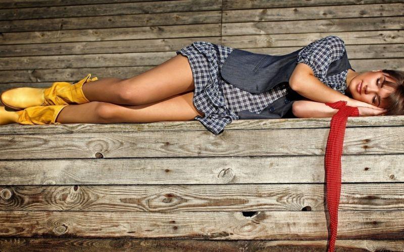 brunettes legs women skirts sleeping wallpaper