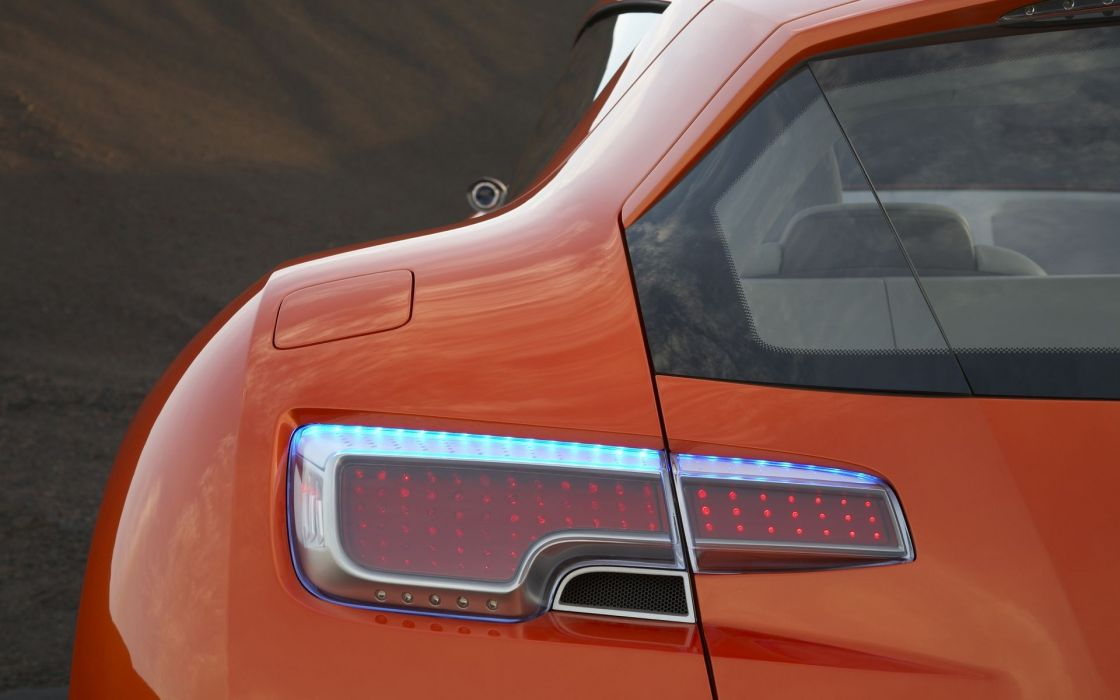 close-up cars orange back view vehicles concept cars orange cars American cars taillights Dodge Zeo wallpaper