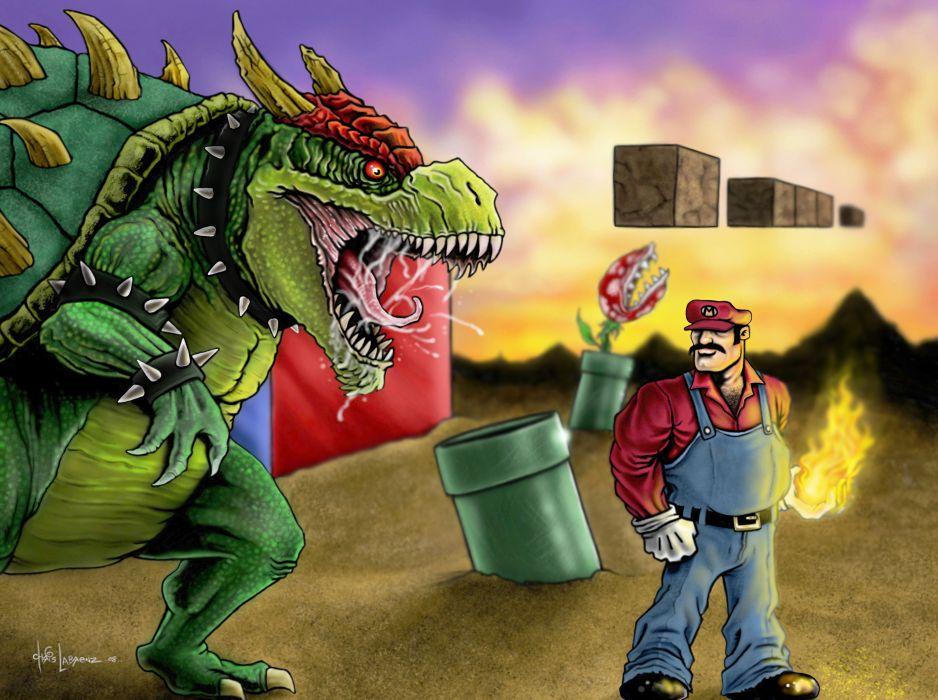Mario Super Mario Bros_ Bowser artwork wallpaper
