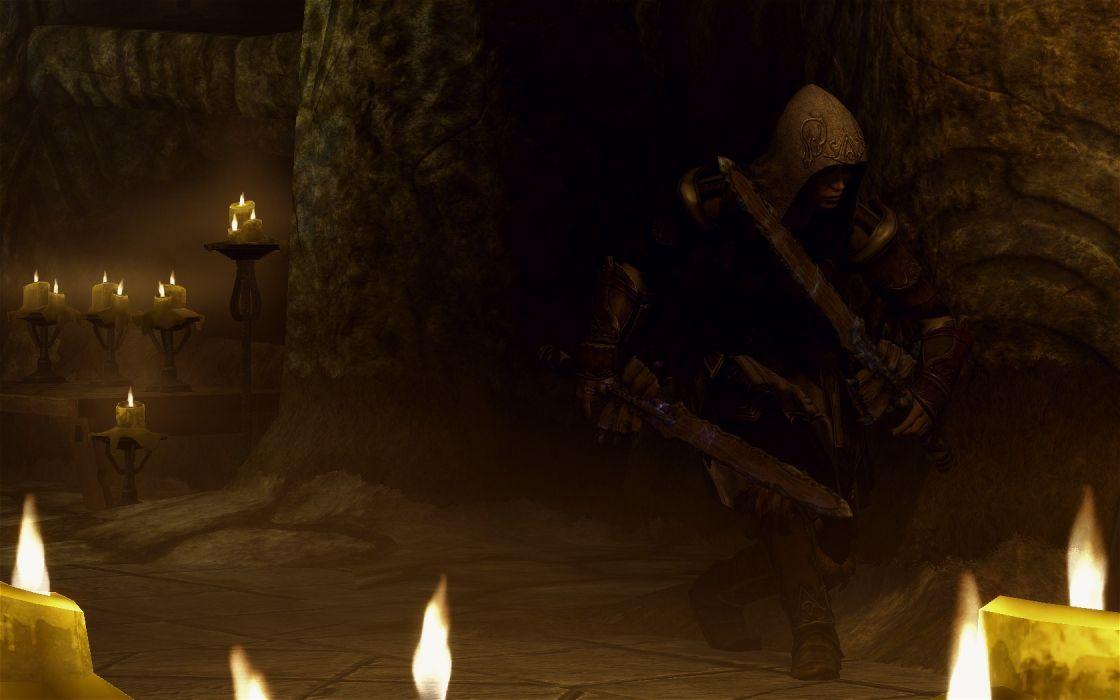 dungeons characters The Elder Scrolls V: Skyrim games wallpaper