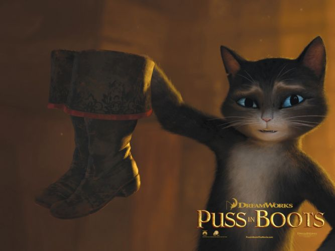 cartoons movies theatre Puss in Boots wallpaper