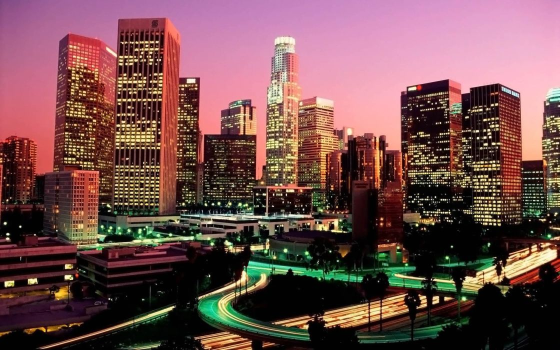 cityscapes lights California Complex Magazine wallpaper