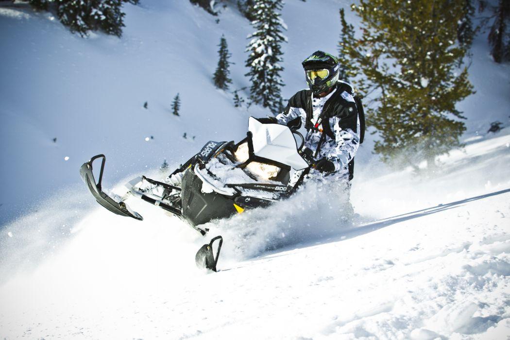 POLARIS PRO RMK snowmobile winter sled snow h wallpaper