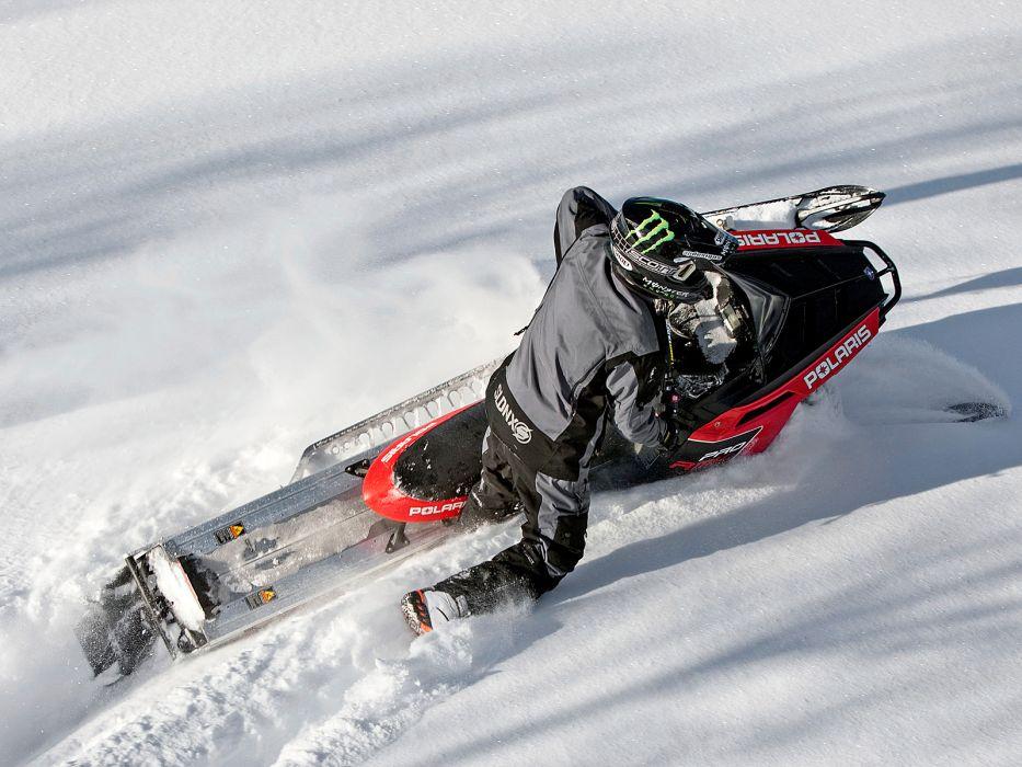 POLARIS PRO RMK snowmobile winter sled snow g wallpaper