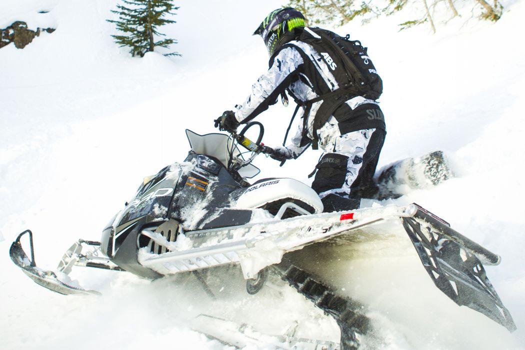 POLARIS PRO RMK snowmobile winter sled snow    he wallpaper