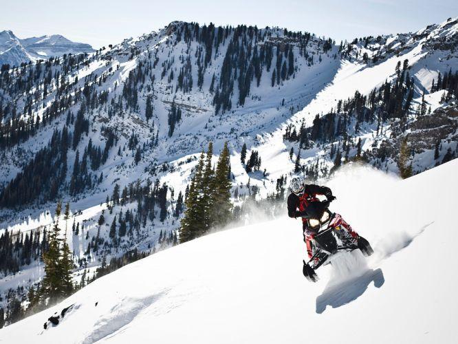 POLARIS PRO RMK snowmobile winter sled snow ge wallpaper