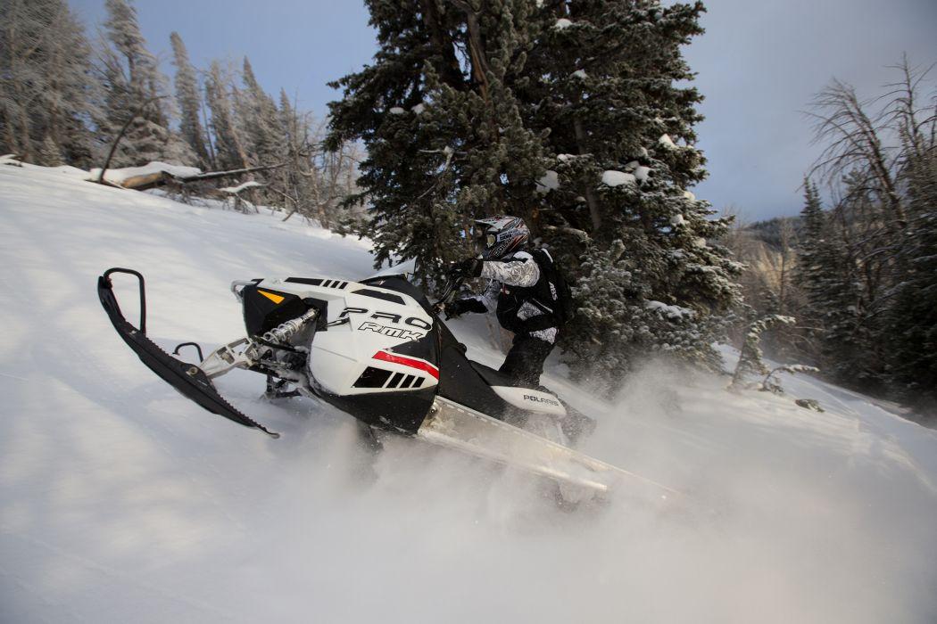 POLARIS PRO RMK snowmobile winter sled snow  f wallpaper