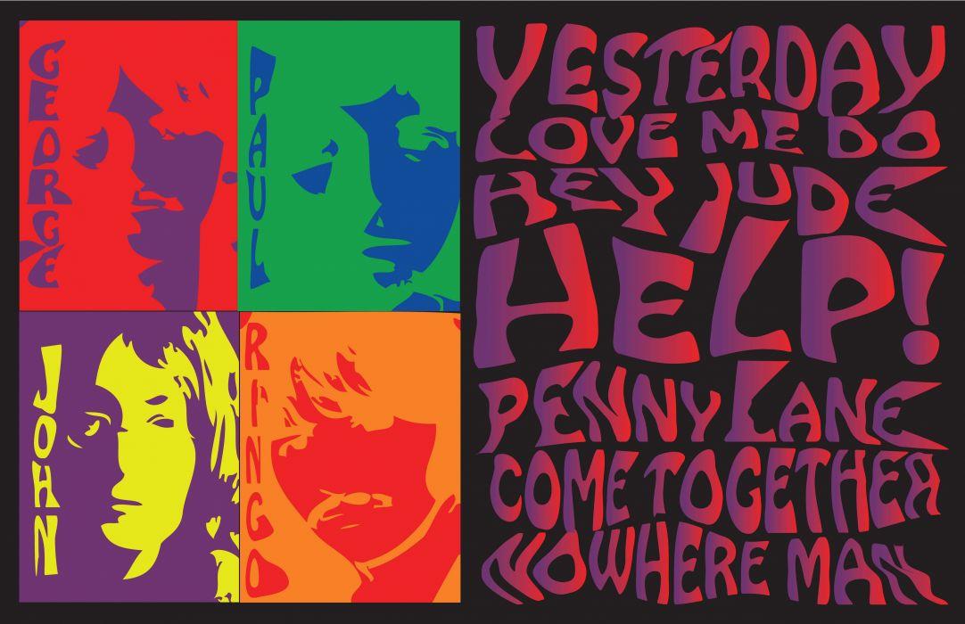 psychedelic BEATLES wallpaper
