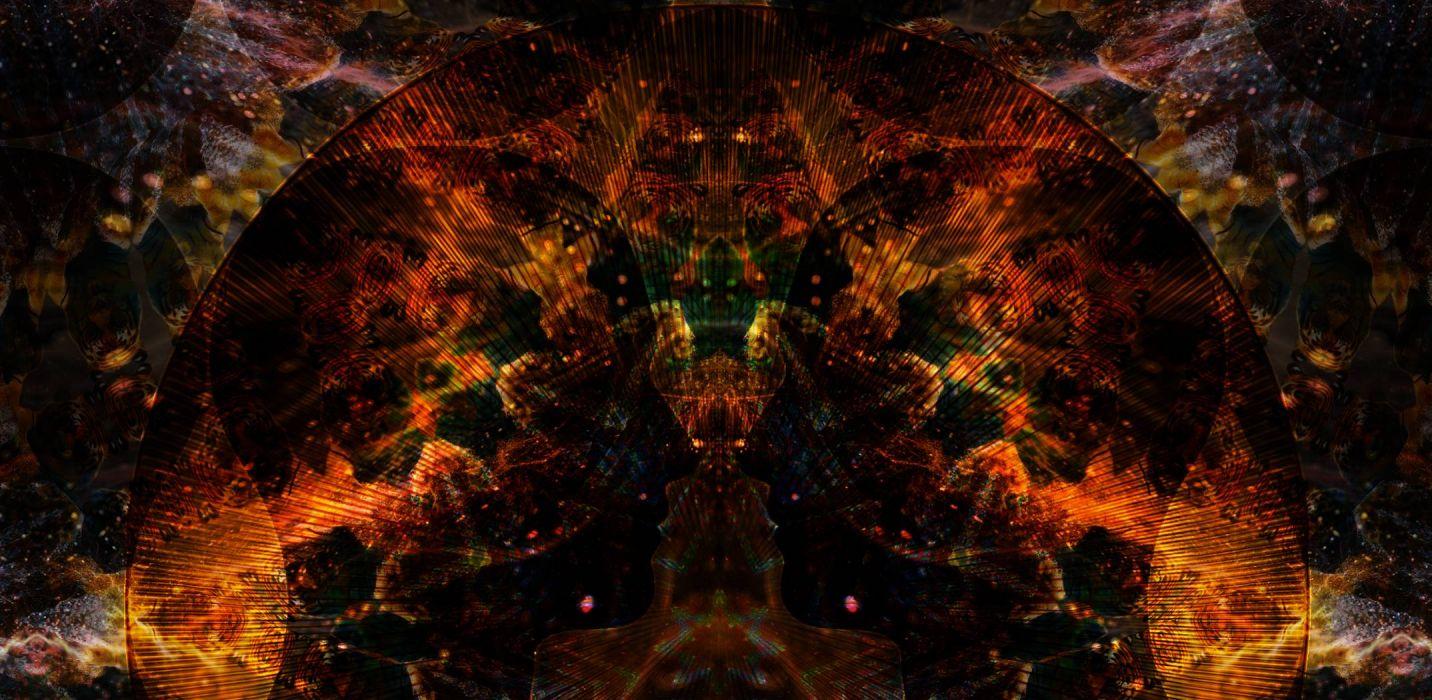 psychedelic bokeh    h wallpaper