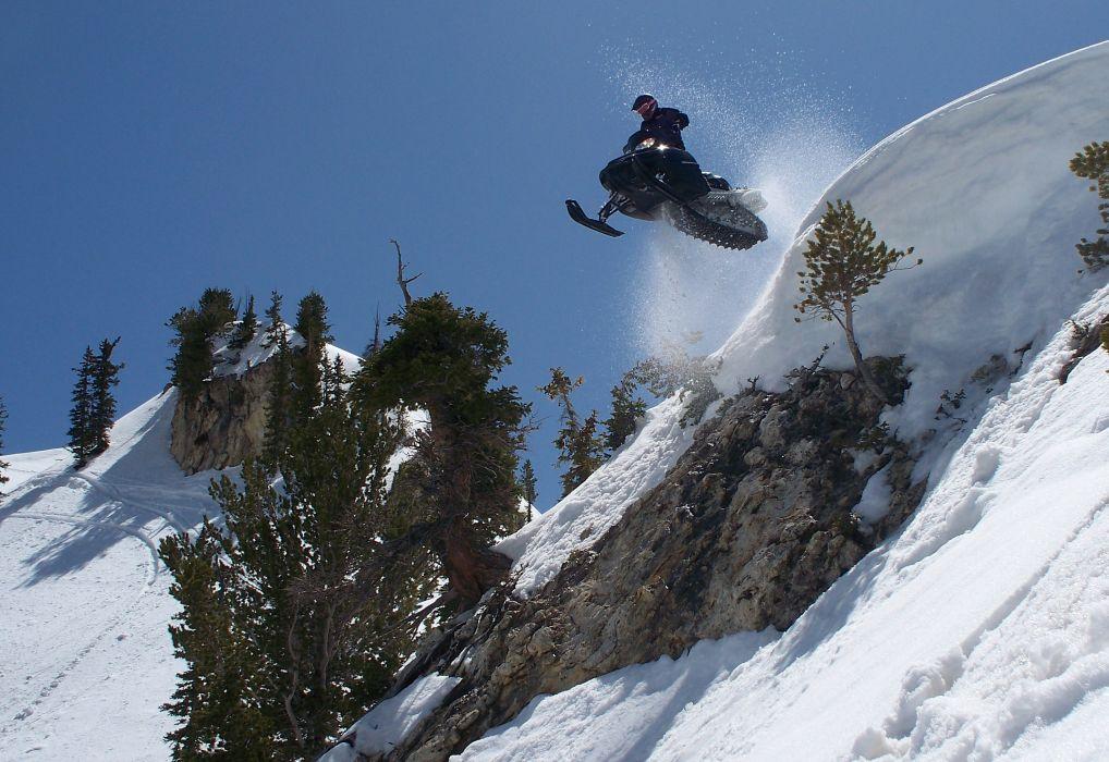 snowmobile winter        f wallpaper