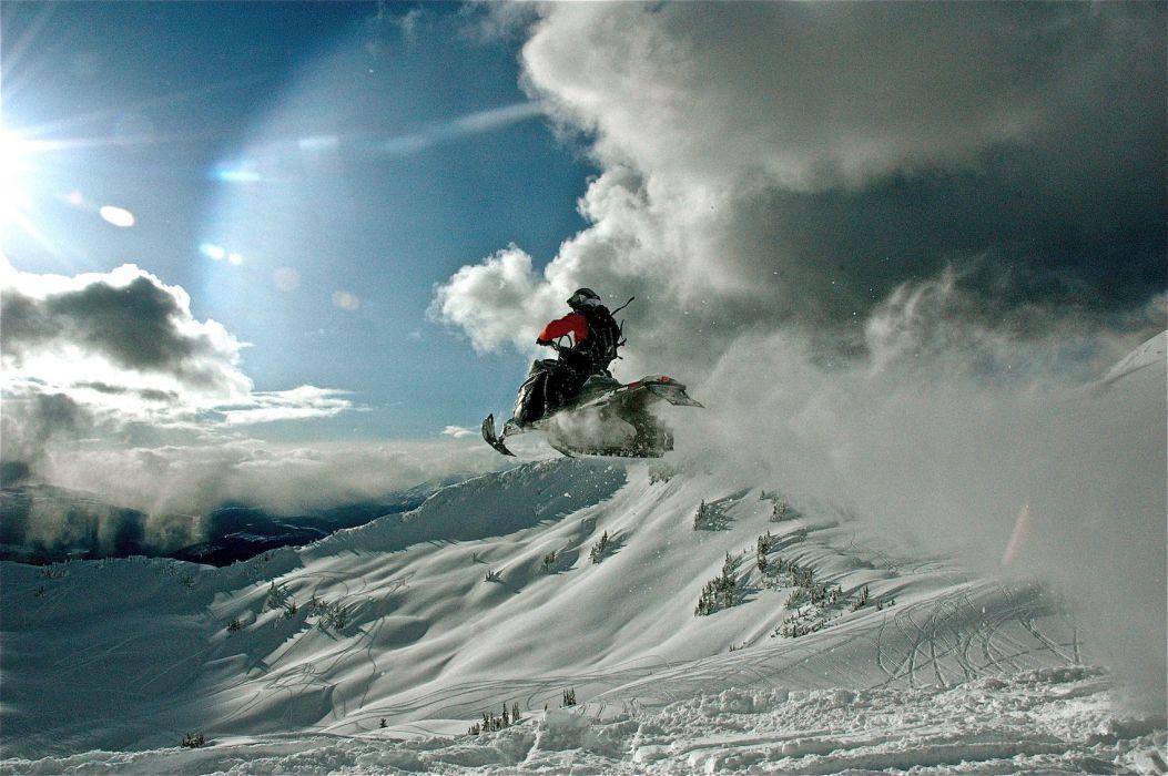 snowmobile winter snow    t wallpaper
