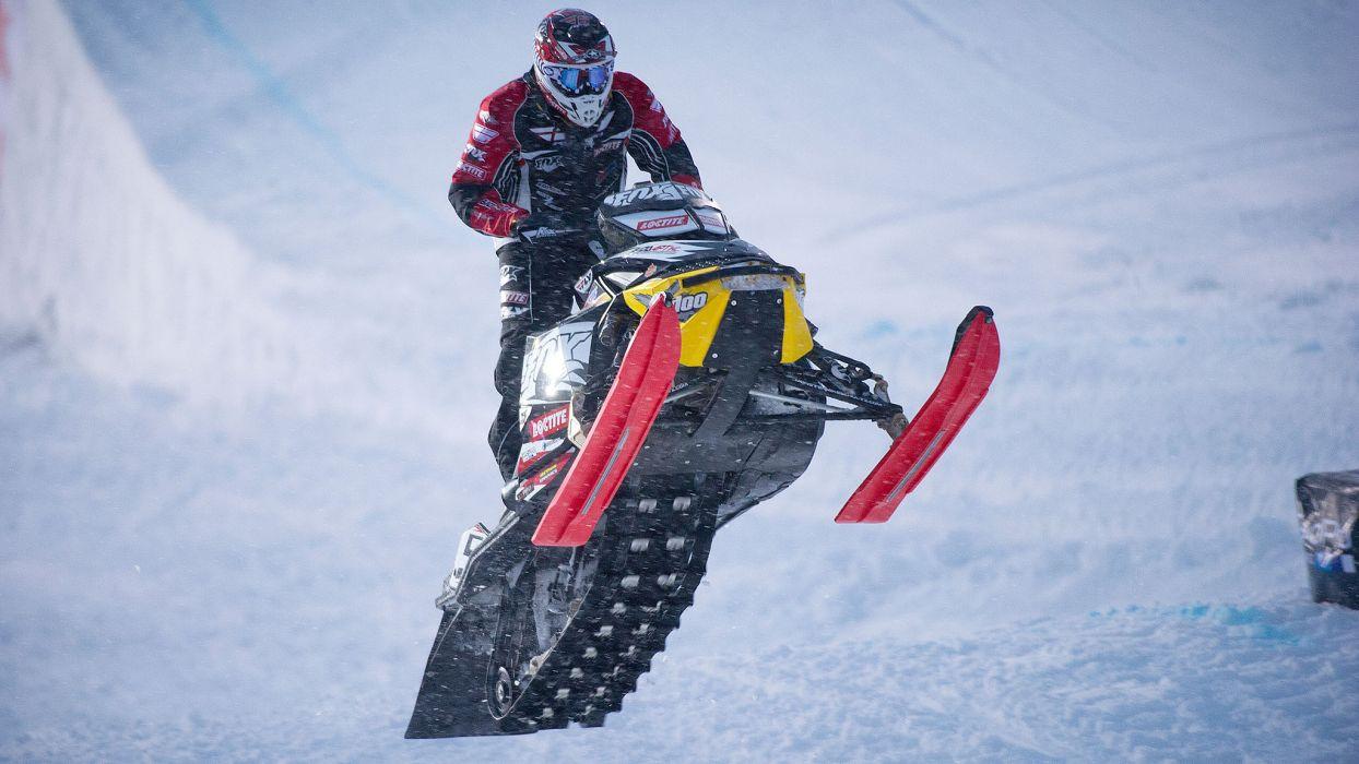 snowmobile winter snow    gw wallpaper