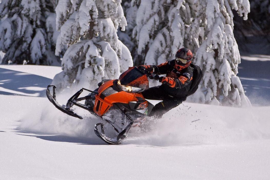 snowmobile winter snow    h wallpaper