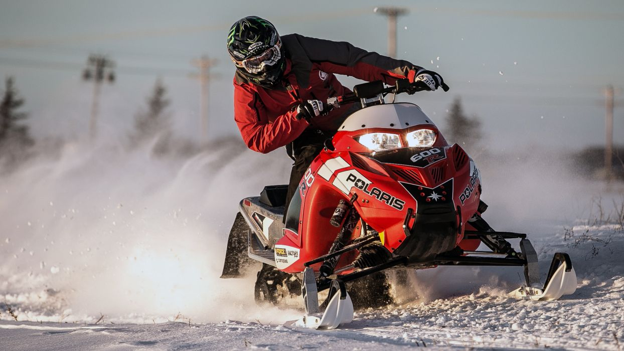 snowmobile winter snow   h wallpaper