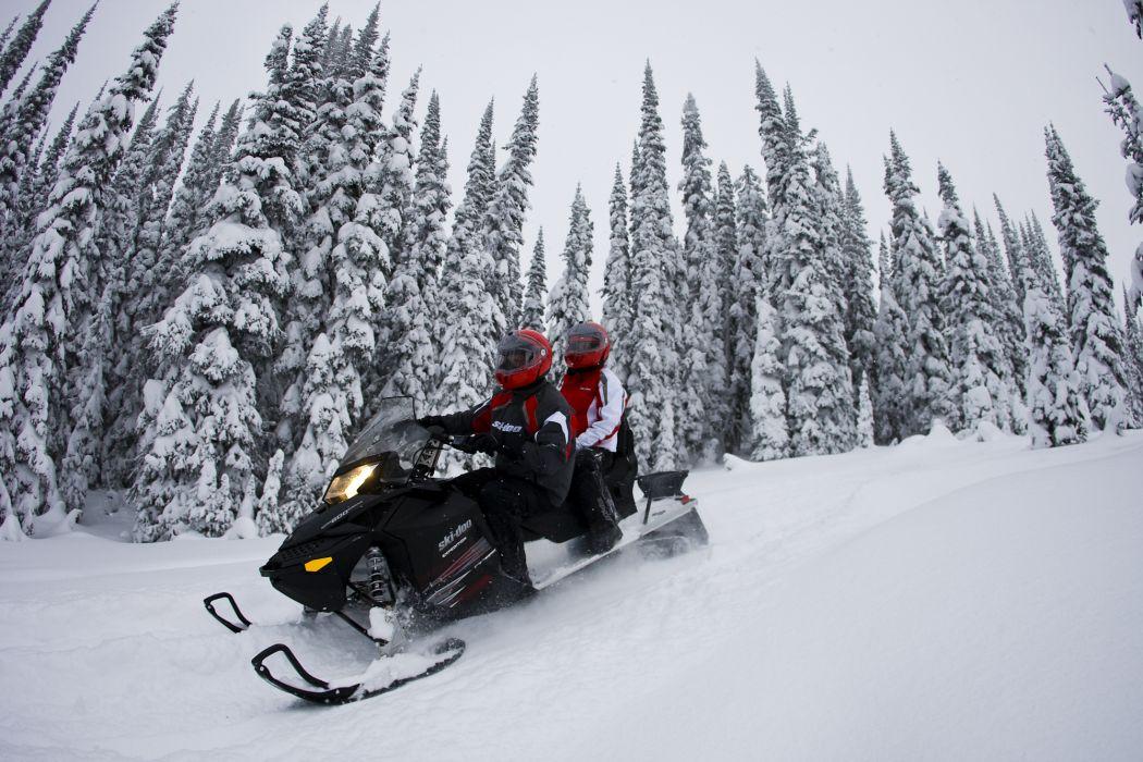 snowmobile winter snow   r wallpaper