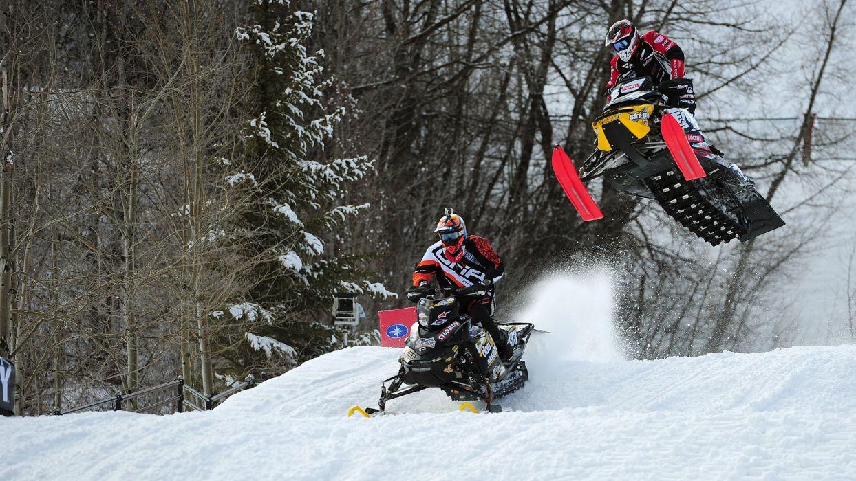 snowmobile winter snow race racing    g wallpaper