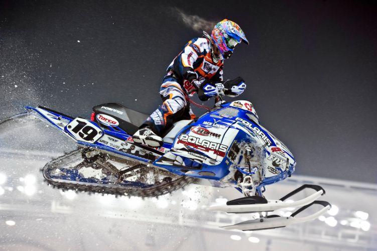 snowmobile winter snow race racing b wallpaper