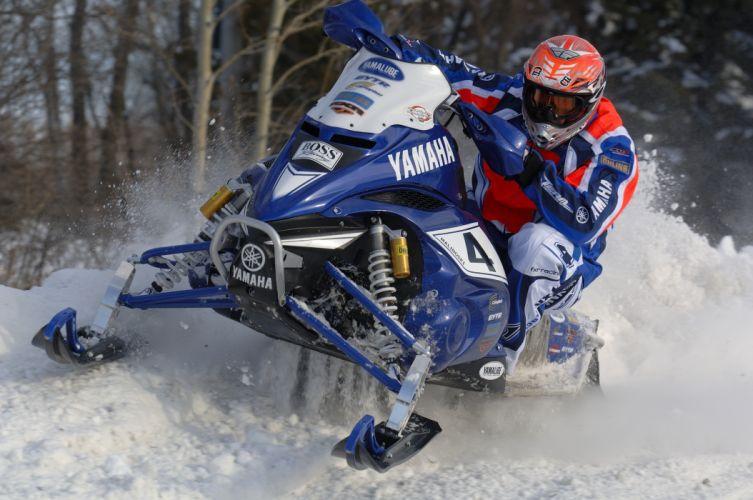 YAMAHA NYTRO snowmobile winter sled snow race racing f wallpaper