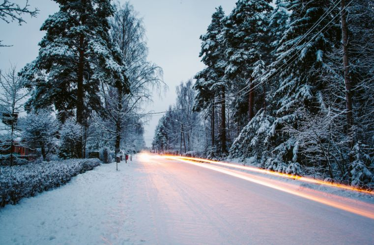 exposure nature road snow winter g wallpaper