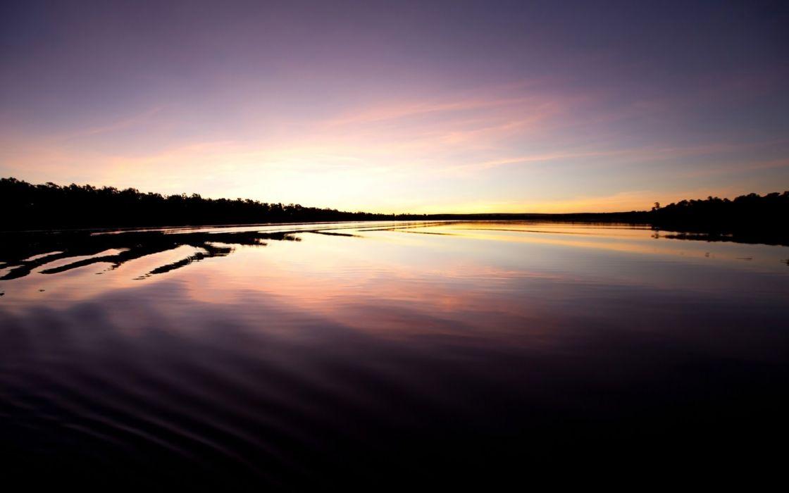 lake light water sunset reflection mood       f wallpaper