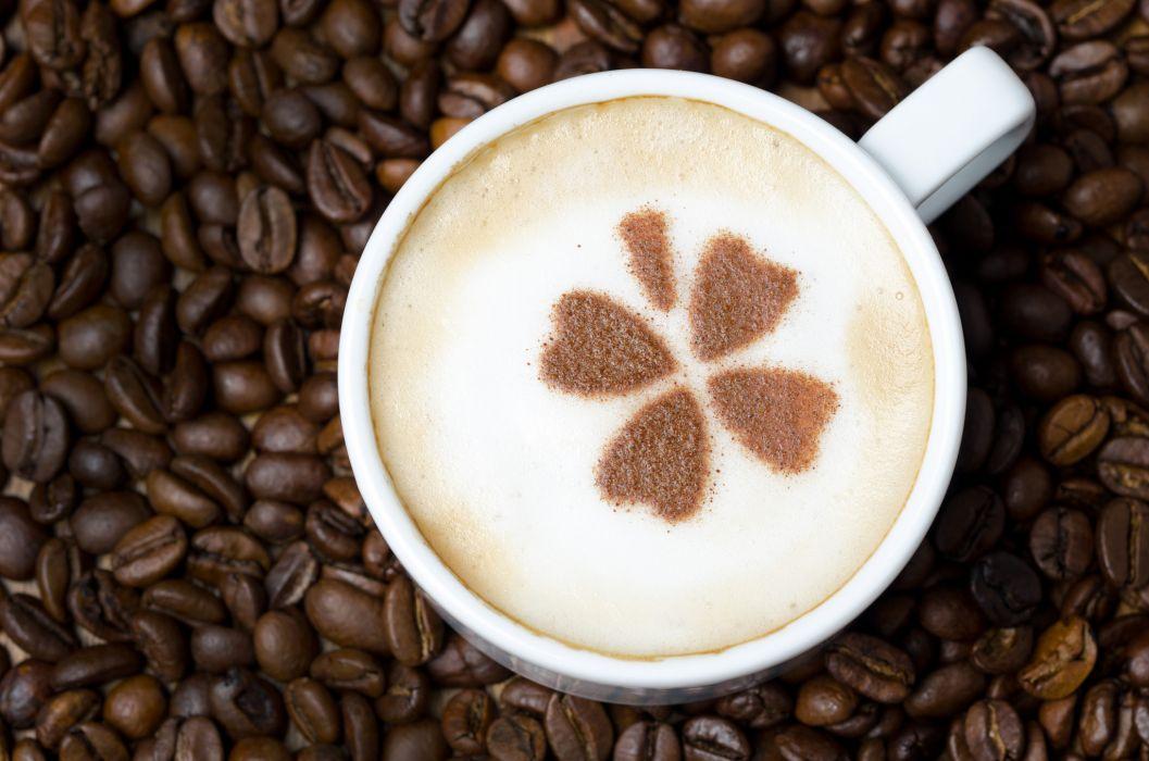 pattern coffee foam cappuccino drink beans   f wallpaper