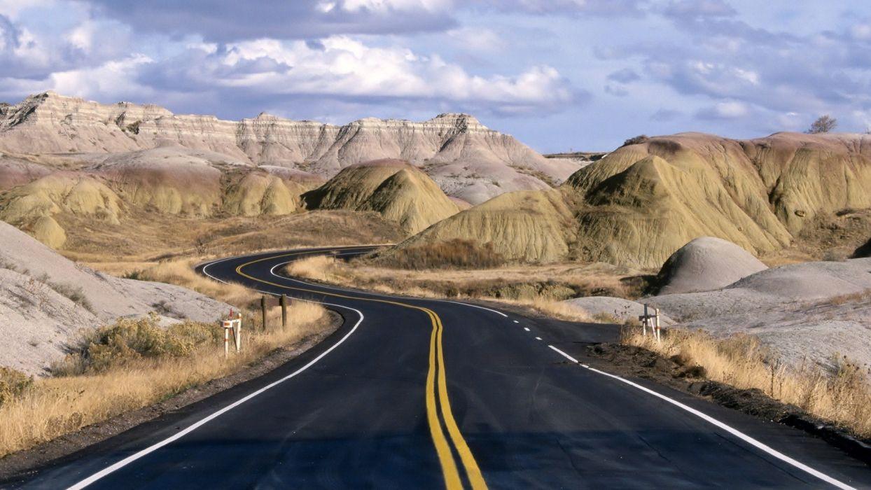 road highway desert     g wallpaper
